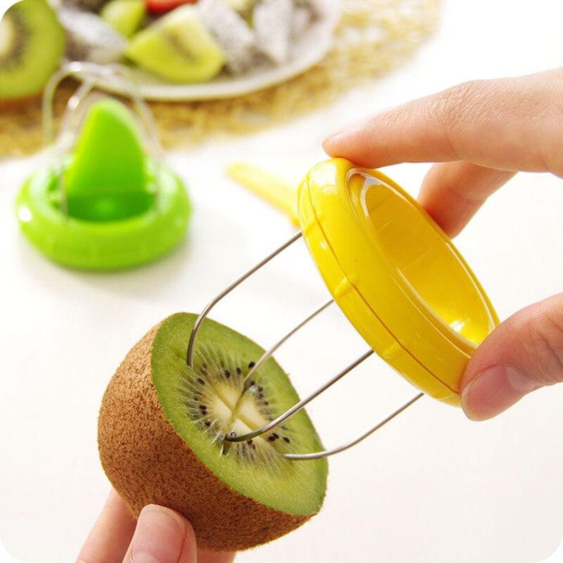 Multifunction Kiwi Fruit Cutter Peeler Slicer  fruit corers separator knife frui