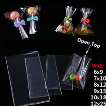 Transparent Open Top Small Plastic Bags for Candy Lollipop Cookie Packaging Cellophane Bag Wedding Party Favor Poly Opp Gift Bag(China)