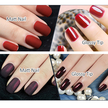 ROSALIND P+Black Bottle 10ML Matt Top Coat Gel Nail Polish Nail Art Nail Gel Polish UV LED Gel Soak-Off Dull Surface Permanent