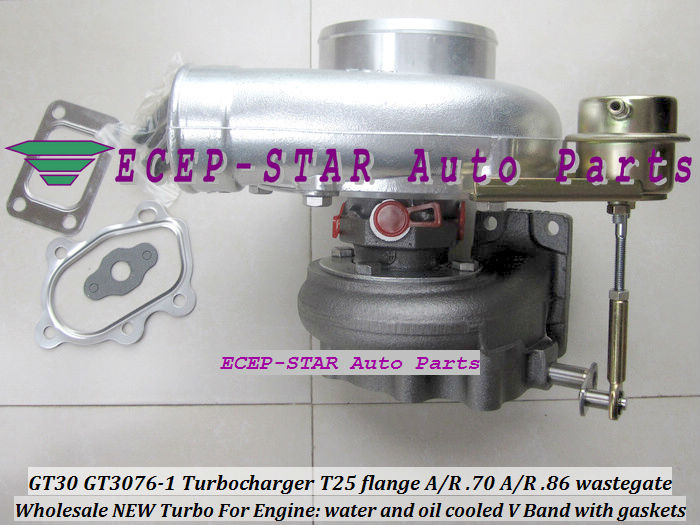 GT30 GT3076 T25 A//R .70 compressor A//R .86 wastegate water/&oil turbocharger new