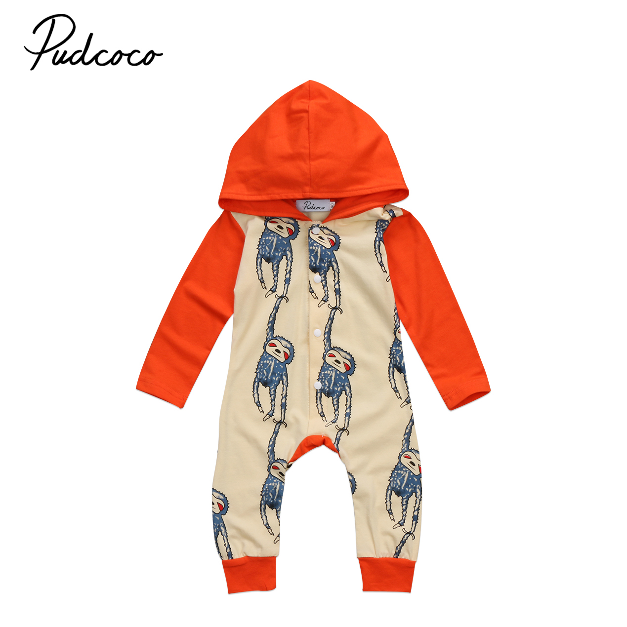 Baby Clothing Newborn Baby Boys Girls Sloth Novelty Long sleeve Romper Jumpsuit Autumn Winter Baby Clothes Outfits Unisex 0-2T