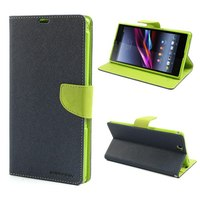 1x Mercury Fancy Diary Leather Wallet Case Many Other Color Leather Case Stand For Sony Xperia