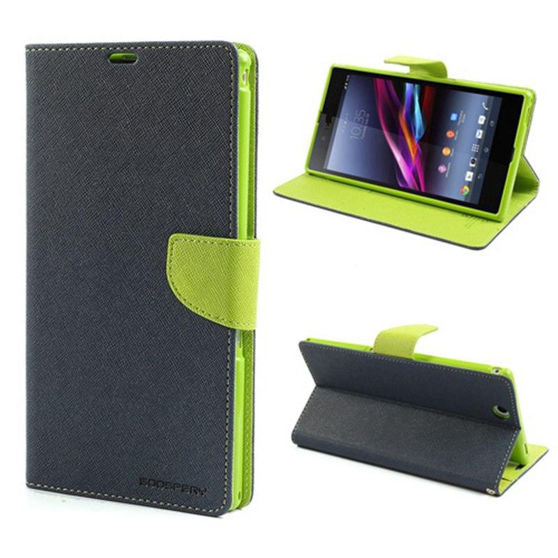Original Goospery Leather Credit Card Wallet Flip Cover Case For Sony Xperia Z3 Z4 M4 Aqua M5 X Compact XA XZ C4 Phone Bag Cases