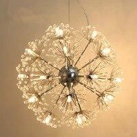 Цветок Одуванчика светодиодный подвесной светильник K9 хрустальный шар звезда Подвеска подвесное освещение домашнего освещения Art Hotel подв