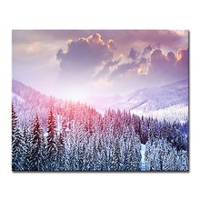Oil Painting By Numbers DIY Handpainted Snowy Forest Landscapes Pictures Kits Coloring Drawing On Canvas Wall Art For Home Decor