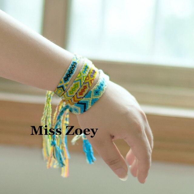 25a5bc25fa9725 ABL039(20), 0.8cm Width Nepal Multicolored Handmade Brazilian Hemp Rope Woven  Braided Bracelets Hippy Boho Friendship Bracelets