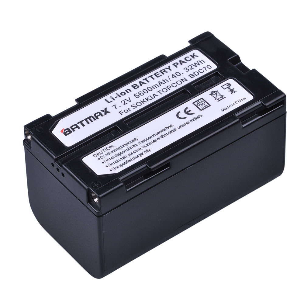 1Pc 5600mAh BDC70 Li Ion Rechargeable Battery for Topcon Sokkia Total Stations, Robotic Total Stations and GNSS Receivers