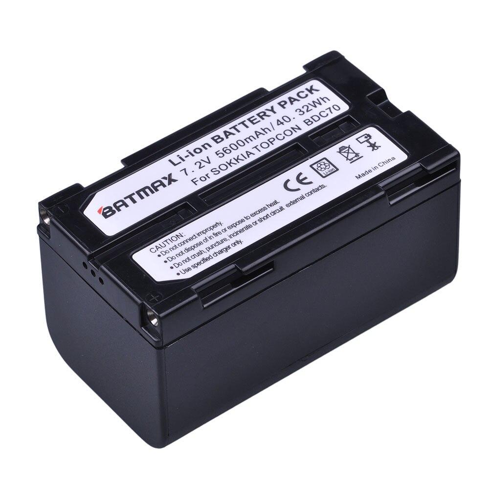 BDC70 1 pc 5600 mah Recarregável de Iões De Li Bateria para Topcon Sokkia Estações Totais, estações Totais robotizadas e Receptores GNSS