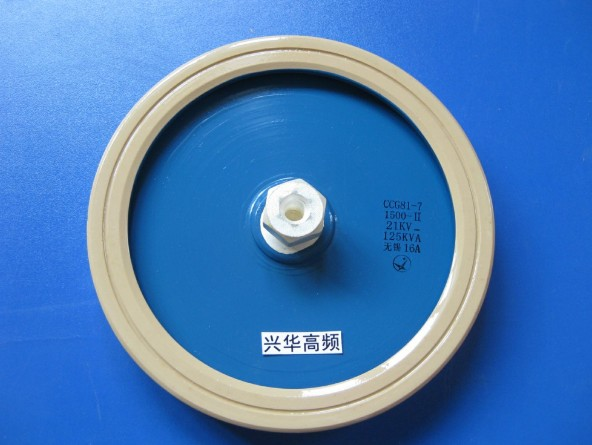 [VK] CCG81-7 1500-II 21KV 125KVA ceramic capacitor high pressure ceramic capacitor high voltage 2 pin disc ceramic capacitor set blue 6 pcs