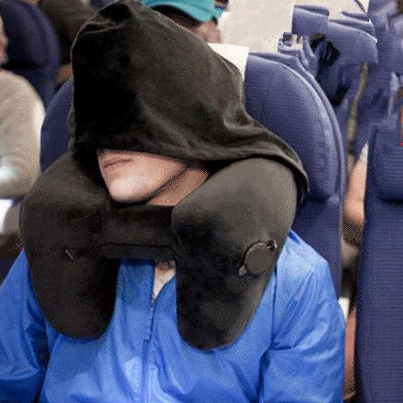 Neue H Form Aufblasbare Reise Kissen Klapp Leichte nap Neck Kissen Auto Sitz büro Flugzeug schlaf Kissen Kissen