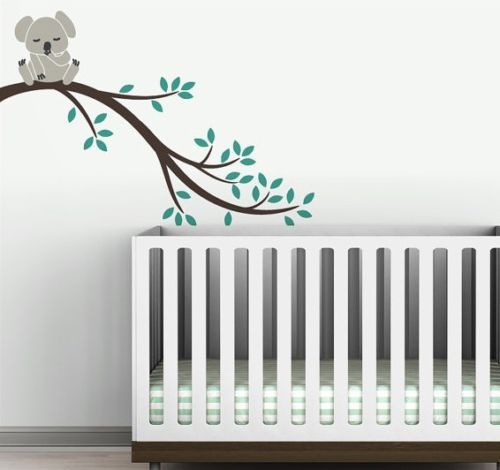 large 104cm nursery Koala on tree wall sticker For Kids room decor