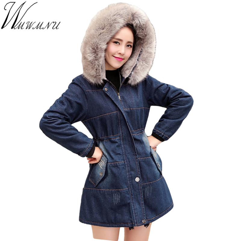Wmwmnu New 2017 Winter Coats font b Women b font slim Jackets Large Raccoon Fur Collar