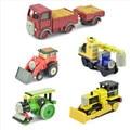 6 unids/lote Thomas y Amigos AollyTRAIN & COCHES, Thomas tren juguetes de Metal Thomas Tank Engine juguetes para niños-George, Camión, Jack, Byron