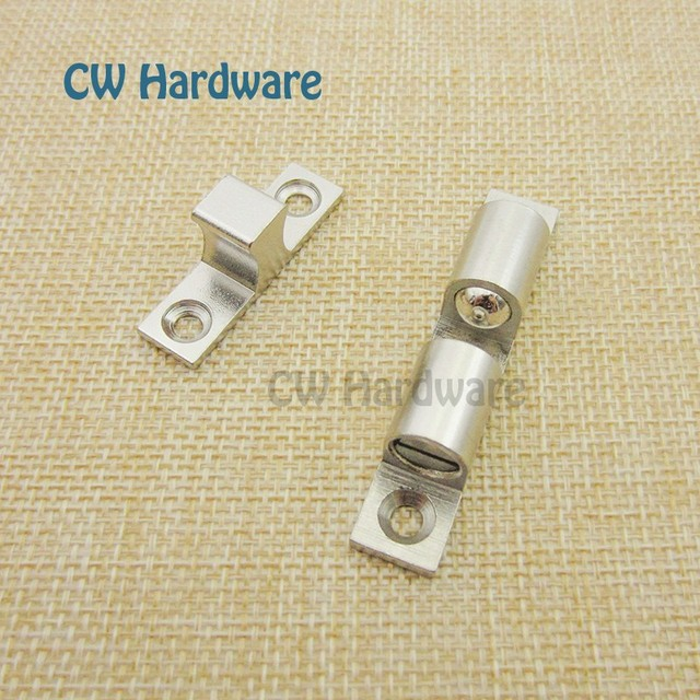 48mm 10pcs Nickle Cabinet Catch Electroplated Br Cupboard Ball Bearing Latch Furniture Door Double