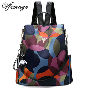 Image 1 - New Backpack Women Oxford Multifuction Bagpack Casual Anti Theft Backpack for Teenager Girls Schoolbag 2019 Sac A Dos mochila