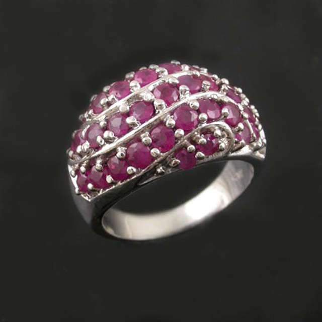 Luxurious natural ruby ring for women guarantee genuine ruby gemstone silver ring solid 925 silver ruby jewelry