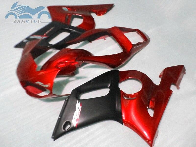 Personnalisé que vous avez besoin kit de carénages de moto pour YAMAHA R6 YZFR6 1998-2002 YZF R6 98-02 carénage de corps de course de sport rouge noir EB65