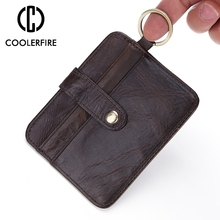 цены Hot Sale Genuine Leather Card Case Business Card Holder Men Women Credit Passport Card Bag ID Passport Card Wallet Pocket PJ028