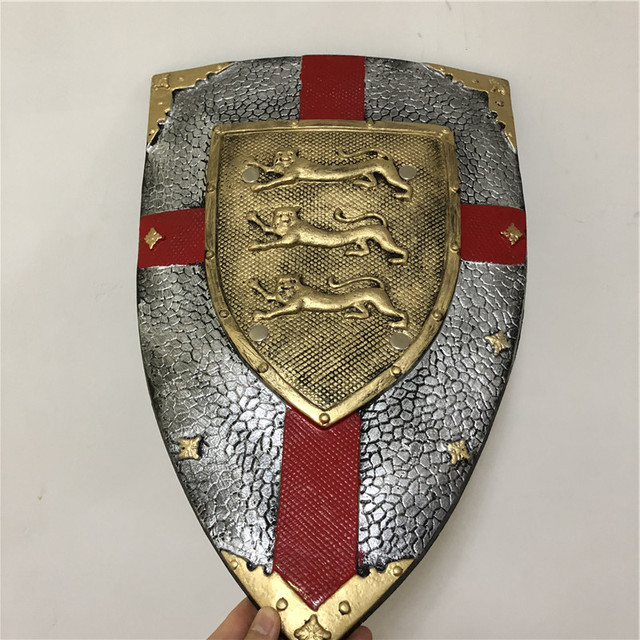 US $13 85 |62cm Halloween Cosplay Prop Power Golden Leopard Pope Knight  Shield 1:1 PU Weapon Movie Game Anime Cos Kids Role Play Gift-in Costume  Props
