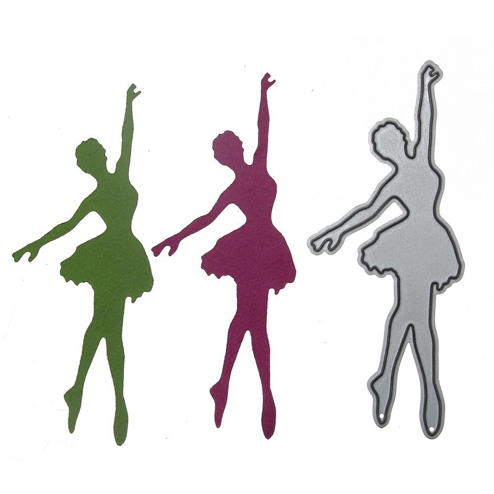 ღ Ƹ Ӝ Ʒ ღballet dancing girl cutting dies stencils diy