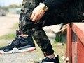 Corredores dos homens 2017 novos homens magros calças de camuflagem hip hop calças basculador harem pants calças dos homens de carga camo militar justin bieber