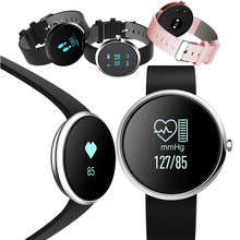 V06 Bluetooth smart Сердечного ритма Мониторы Приборы для измерения артериального давления Фитнес трекер браслет шагомер браслет часы для IOS Android