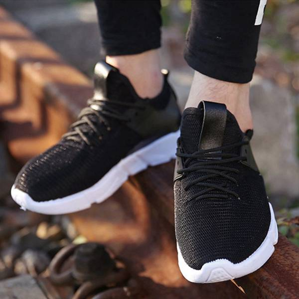 Mens Casual Shoes Summer men shoes New Black Color Flats Shoes Breathable Trending Lightweight Leisure Shoes 2017 new lightweight breathable suede mens casual shoes adult keep warm with fur