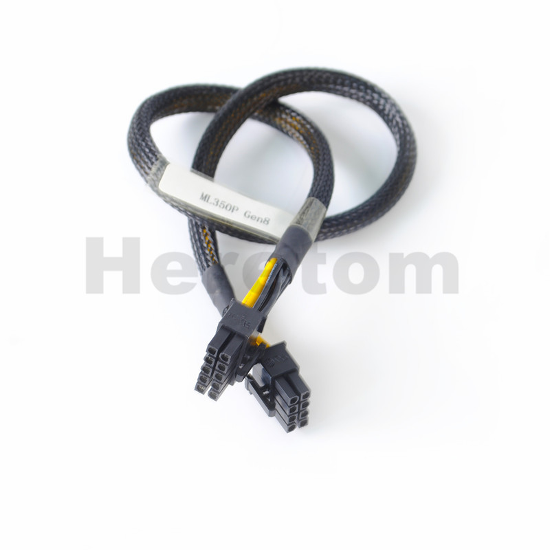 10pin to 6+8pin Power Adapter Cable for HP ML350 G8 and GPU 50cm US Seller
