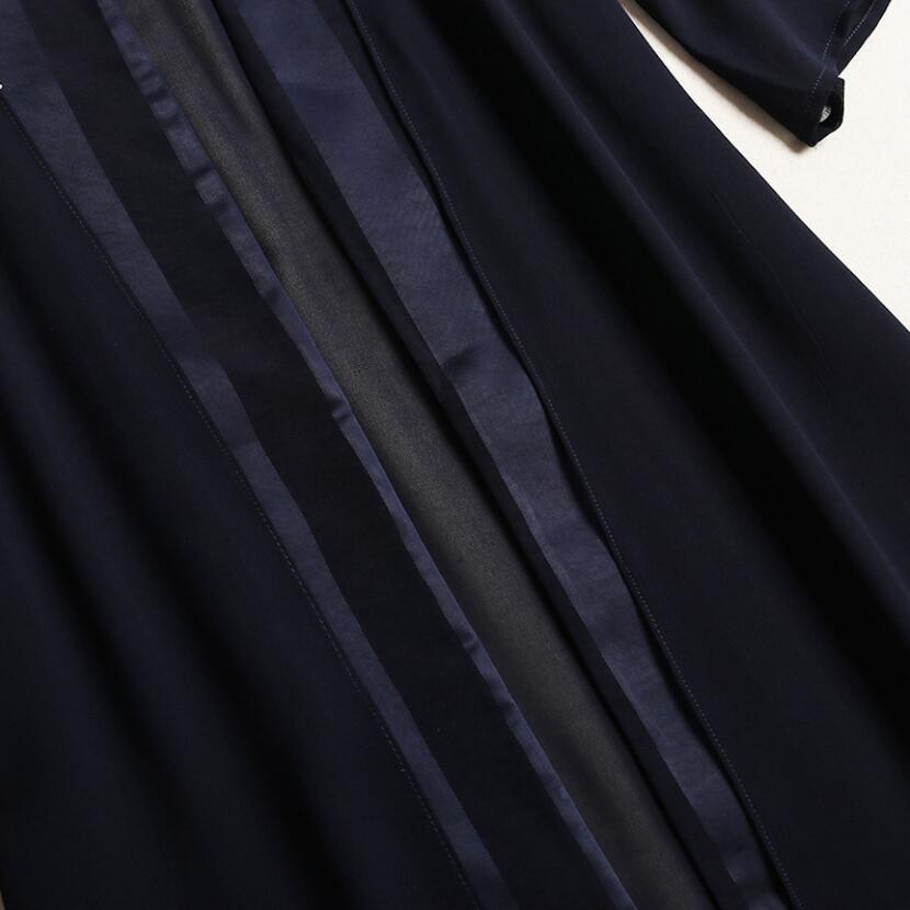 Costumes Taille Cardigan Printemps Elastique Automne Pantalon Top Grande Nouvelle Mode De Manches Longues Ensembles Pièces Jambes Dark Extérieure Blue Deux Dames Large FTvxwvBqY