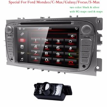 Двойной 2 DIN dvd-плеер автомобиля GPS Navi для Ford Focus Mondeo Galaxy 3 г аудио Радио стерео Штатная BT IPOD RDS может-bus 8 г map Cam