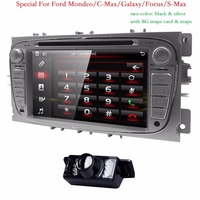 Double 2 Din Car DVD Player GPS Navi for Ford Focus Mondeo Galaxy 3G Audio Radio Stereo Head Unit BT iPod RDS Can Bus 8G map CAM