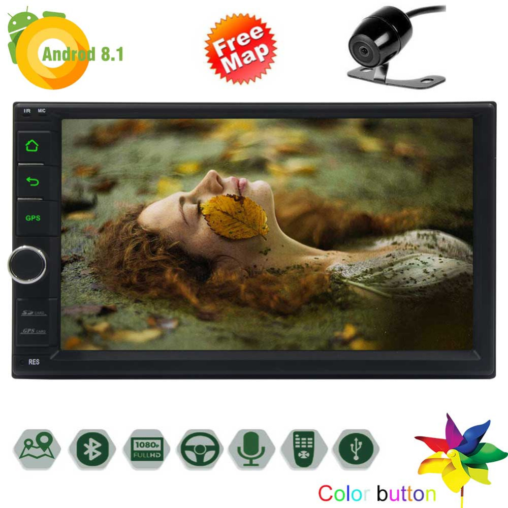 7 touch screen Universal Car video Player In Dash 2 Din Stereo GPS Navigation with Built in Bluetooth 2GB RAM 32GB ROM, Support