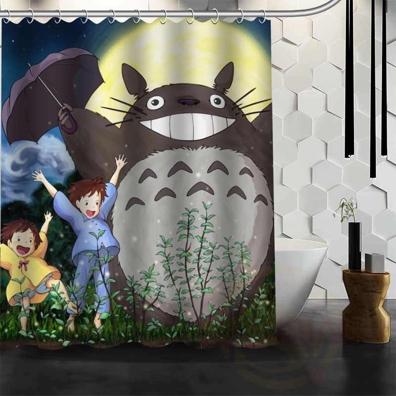 Nowe wszystkie Studio Ghibli charakter Totoro klienta zasłona prysznicowa kreskówki łazienka wystrój Spirited Away zasłona wanny
