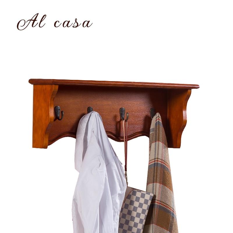 coat hat wood rack hook rack,coat hanger home furniture oak wood coat rack