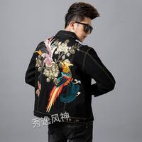 2019 весна и осень брендовая мужская DG Новая модная джинсовая куртка вышитая куртка Мужская модная тонкая куртка