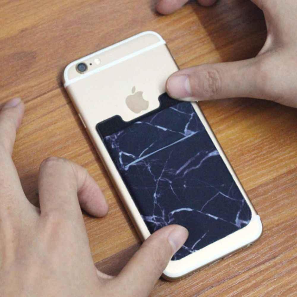 مرونة الهاتف المحمول محفظة الائتمان حامل بطاقات التعريف الشخصية لاصق جيب ملصقا ليكرا جيب حامل بطاقة العالمي الهاتف المحمول التبعي
