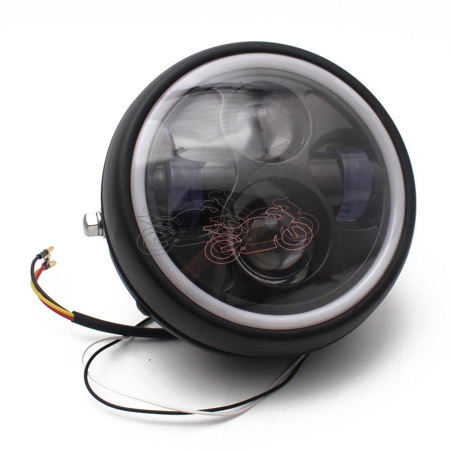 Motorcycle Retro Hi-Low Bean White LED 6.3