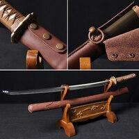 Японский самурайский меч ручной работы Весна сталь + ГЛИНА ЗАКАЛЕННОЕ функциональное Катана Полный Тан лезвие тонкой полированной очень ос
