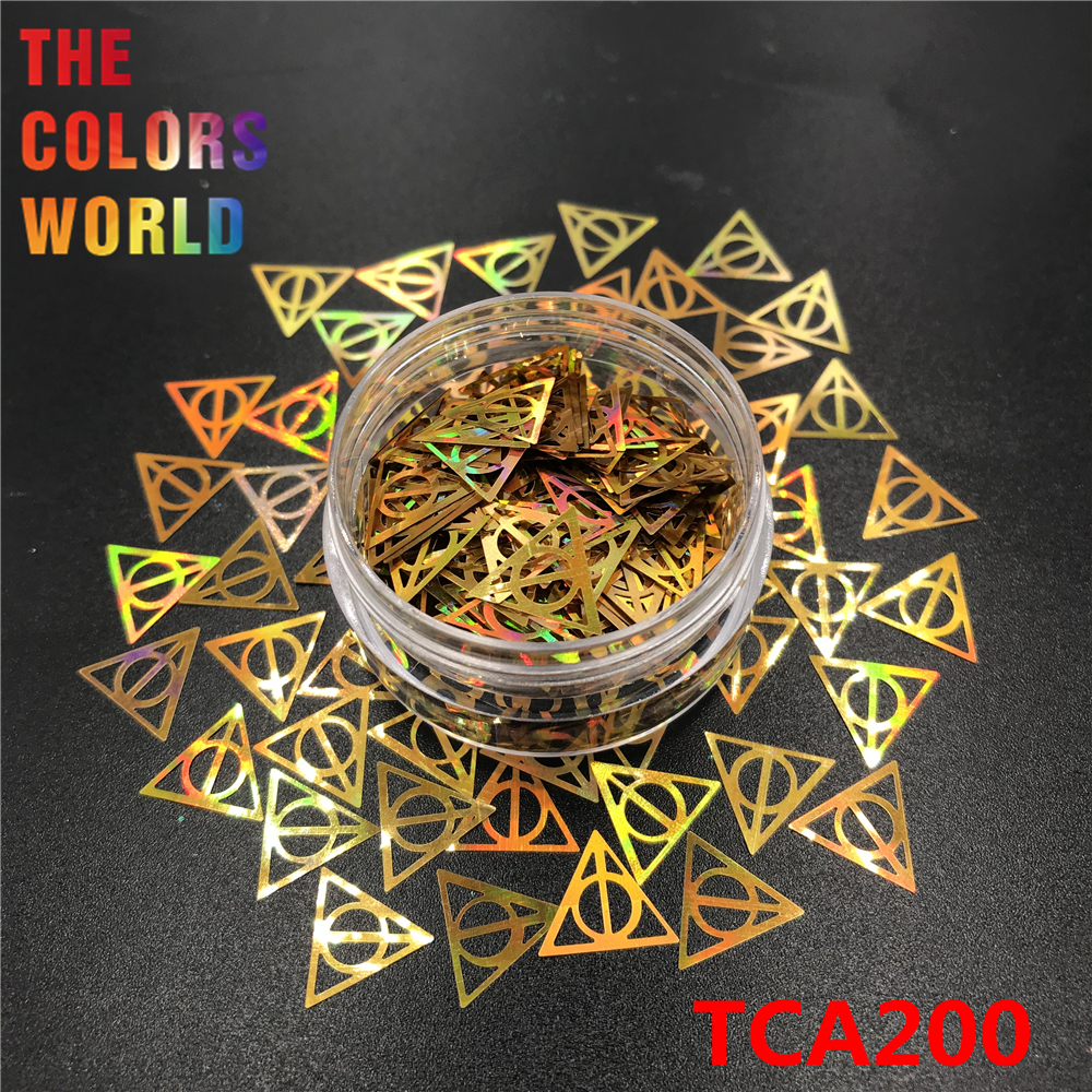 Image 4 - Hollows Triangle 10MM Nail Glitter Nail Art Decoration Makeup Handwork Tumblers Craft DIY Accessoires Festival Party Supplier-in Nail Glitter from Beauty & Health