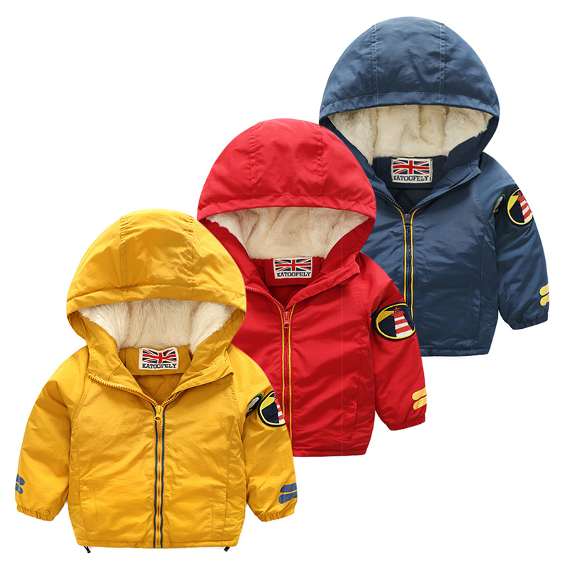 Winter Thicken Warm Child Coat Windproof Children Outerwear Casual Printed Boys Girls Jackets For 3-10 Years Old kocotree suit for 3 12 years old children unisex cap scarf gloves winter warm three piece sets