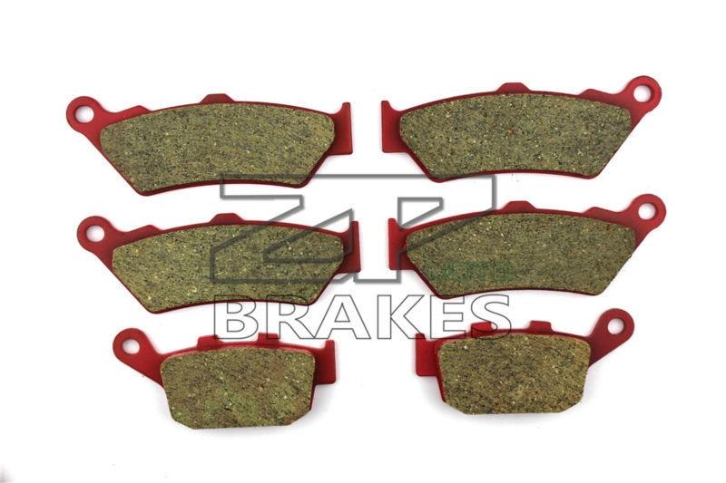 Ceramic Brake Pads Front + Rear For HONDA NT 650 VW/VX/VY/V1 Deauville 1998-2001 OEM New High Quality ZPMOTO motorcycle brake pads ceramic composite for triumph 800 tiger 2011 2014 front rear oem new high quality zpmoto