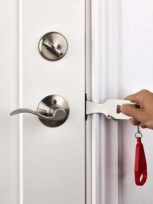 New Stocks Portable Hotel Door Lock Locks Self-Defense Door Stop Travel Travel Accommodation Door Stopper Door Lock
