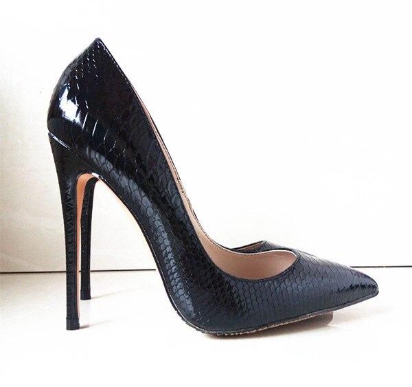 Mulheres Bombas de Moda Sexy Sapatos de Salto Alto Mulheres Apontou Toe Salto Fino Serpentina Sapatos de Casamento Das Senhoras C-808