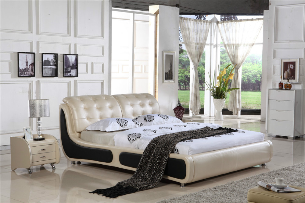 Modern Furniture Malaysia aliexpress : buy malaysia modern leather bed h8311 from