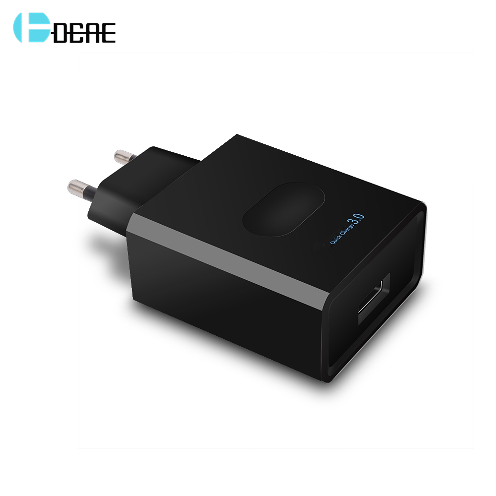 DCAE Quick Charge 3.0 USB Charger 18W Fast Charger EU Plug usb portable charger Adapter Mobile Phone For iPhone Samsung Xiaomi