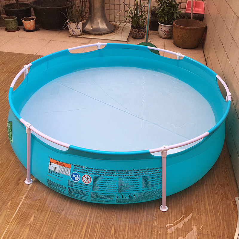 Adult inflatable round pool outdoor swimming pool summer for Inflatable above ground pools