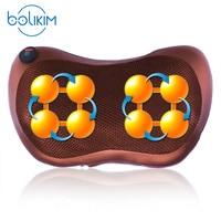 BOLIKIM Brand Electric Infrared Heating Kneading Neck Shoulder Back Body Spa Massage Pillow Car Chair Shiatsu