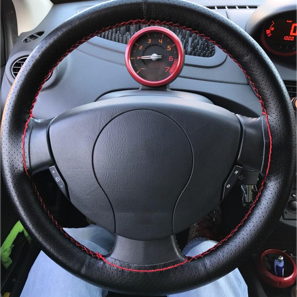 Hand naaien Stuurbedekking Automotive lederen stuurwiel Cover Stuur - Auto-interieur accessoires - Foto 6