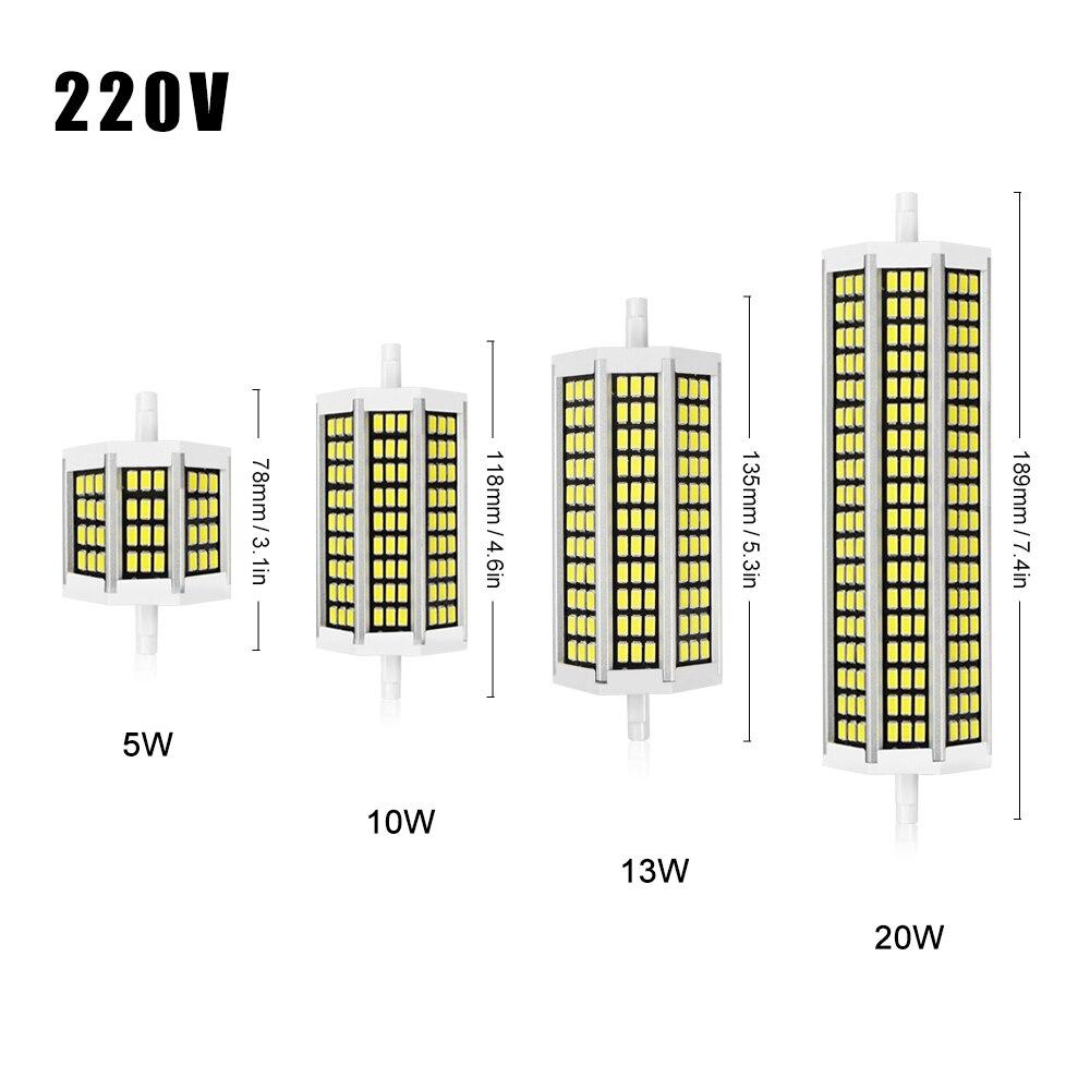Smd5736 r7s led lamp 78mm 118mm 135mm 189mm led bulb light for Led r7s 78mm 20w