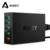 Estação de carga rápida qc 3.0 aukey 5-port carregador usb com micro-usb cabo para samsung galaxy xiaomi mi5 iphone ipad meizu & mais